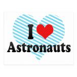 Amo a astronautas tarjetas postales