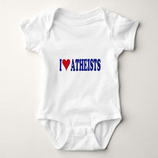 Amo a ateos body para bebé