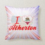 Amo a Atherton, California Almohada