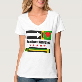 """Amo a atletas jamaicanos "" Poleras"
