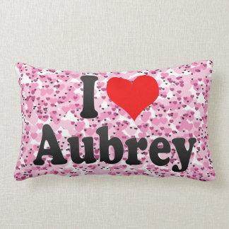 Amo a Aubrey Almohadas