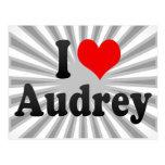Amo a Audrey Postales
