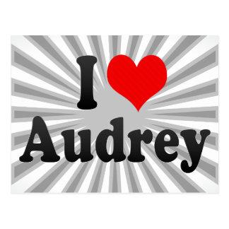 Amo a Audrey Tarjeta Postal