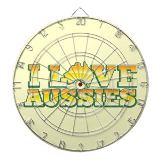 ¡Amo a australianos! Diseño de Australiana Tablero Dardos