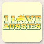 ¡Amo a australianos! Diseño de Australiana Posavasos De Bebida
