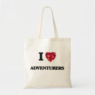 Amo a aventureros bolsa tela barata