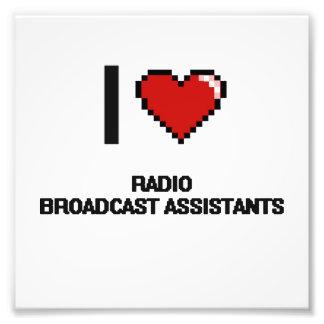 Amo a ayudantes de la emisión de radio fotografías
