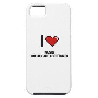 Amo a ayudantes de la emisión de radio iPhone 5 carcasas