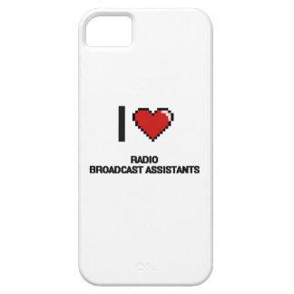 Amo a ayudantes de la emisión de radio iPhone 5 Case-Mate protectores