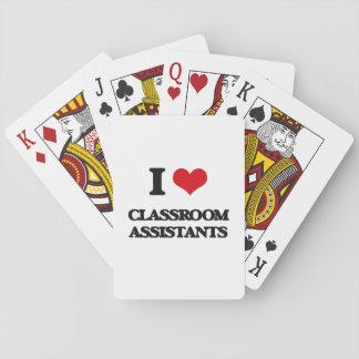 Amo a ayudantes de la sala de clase baraja de cartas