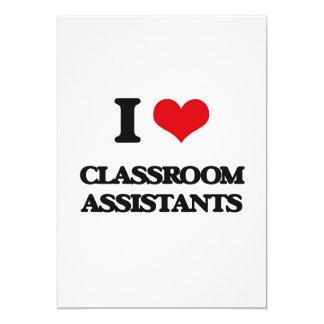 Amo a ayudantes de la sala de clase comunicados