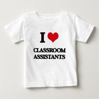 Amo a ayudantes de la sala de clase playeras