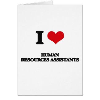 Amo a ayudantes de los recursos humanos tarjetón