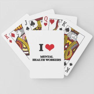 Amo a ayudantes de sanidad mental baraja de cartas