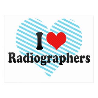 Amo a ayudantes radiólogos tarjeta postal