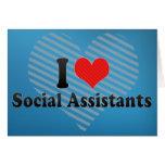 Amo a ayudantes sociales felicitacion