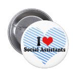 Amo a ayudantes sociales pin