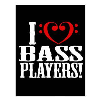 ¡Amo a bajistas! Postales