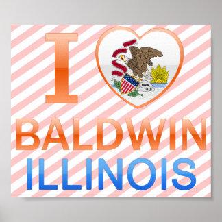 Amo a Baldwin, IL Posters