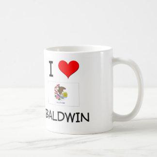Amo a BALDWIN Illinois Taza Básica Blanca
