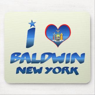Amo a Baldwin, Nueva York Alfombrilla De Ratón