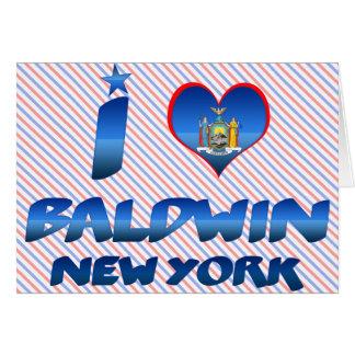 Amo a Baldwin, Nueva York Tarjetón