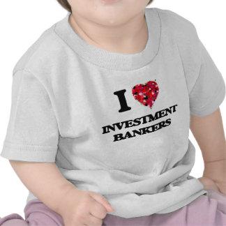 Amo a bancas de inversiones camiseta