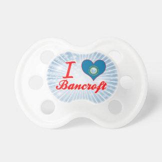 Amo a Bancroft Dakota del Sur Chupetes De Bebé