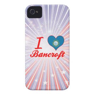 Amo a Bancroft, Dakota del Sur iPhone 4 Case-Mate Funda