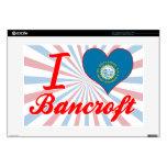 Amo a Bancroft, Dakota del Sur Portátil Skin