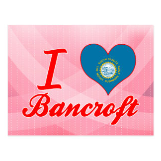 Amo a Bancroft, Dakota del Sur Tarjetas Postales