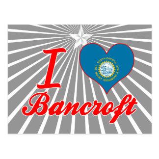 Amo a Bancroft, Dakota del Sur Tarjeta Postal
