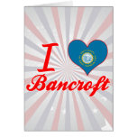 Amo a Bancroft, Dakota del Sur Tarjetón