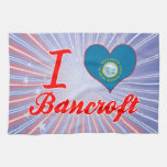 Amo a Bancroft, Dakota del Sur Toalla De Cocina