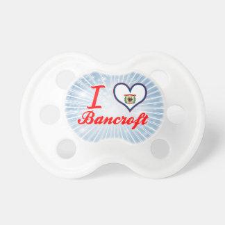 Amo a Bancroft Virginia Occidental Chupete De Bebé
