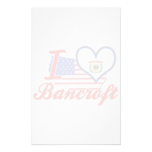Amo a Bancroft, Virginia Occidental Papelería De Diseño