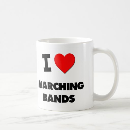 Amo a bandas taza de café