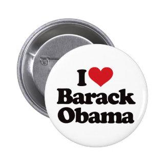 Amo a Barack Obama Pin Redondo De 2 Pulgadas