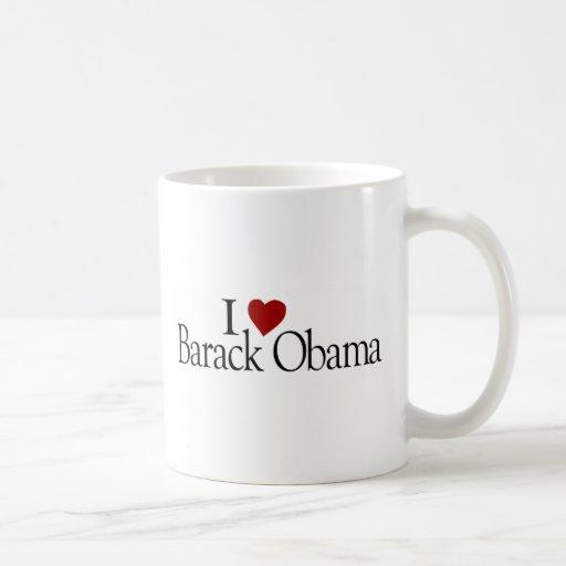 Amo a Barack Obama Taza De Café