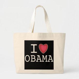 Amo a Barack Obama Totebag Bolsa Tela Grande