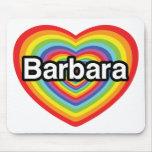 Amo a Barbara, corazón del arco iris Alfombrilla De Raton