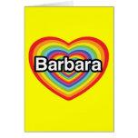 Amo a Barbara, corazón del arco iris Tarjeton