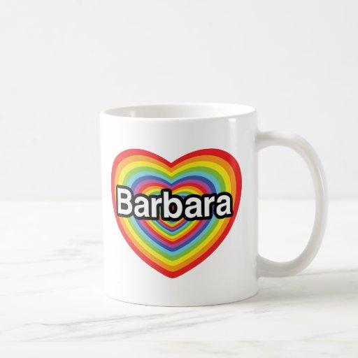 Amo a Barbara, corazón del arco iris Taza Clásica