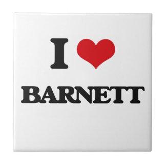Amo a Barnett Azulejo Cuadrado Pequeño