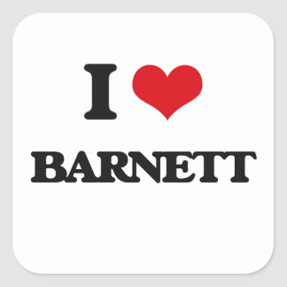 Amo a Barnett Pegatina Cuadrada