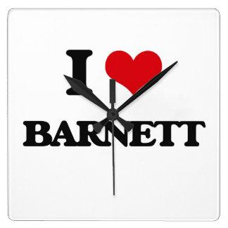 Amo a Barnett Reloj Cuadrado