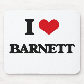 Amo a Barnett Alfombrilla De Ratón