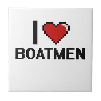 Amo a barqueros azulejo cuadrado pequeño