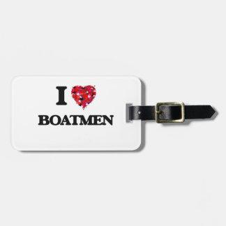 Amo a barqueros etiqueta para equipaje