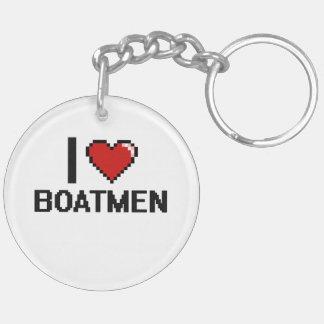 Amo a barqueros llavero redondo acrílico a doble cara